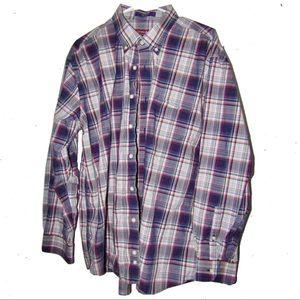 Alan Flusser long sleeve plaid dress shirt